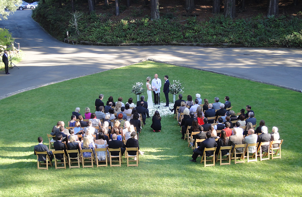 Wedding at Ralston White Retreat Center, Mill Valley