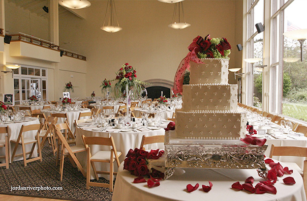 Wedding Cake and Reception Room